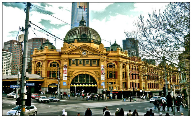 Melbourne Flinder st station Melbourne Tourist Attractions